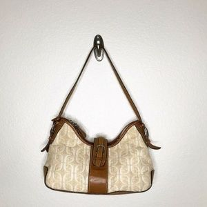 Fossil Authentic Nude Pink Green Leather Purse
